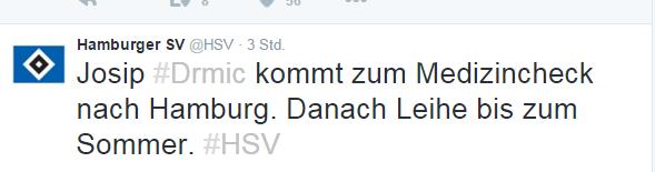 Josip Drmic verstärkt HSV im Sturm