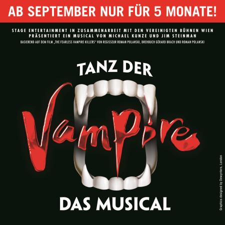 Tanz der Vampire - ab September 2017 Grusel in Hamburg