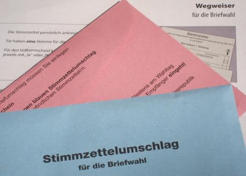 Briefwahlunterlagen für Bürgerschaftswahl 2015 online anfordern